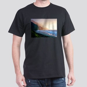 Sunset Kalalau Beach Dark T-Shirt